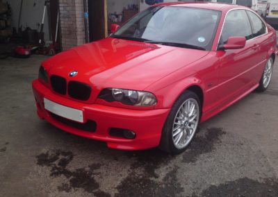 Red BMW after our work