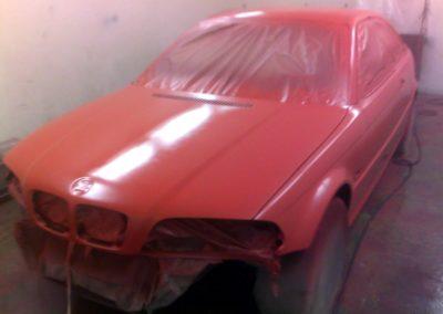 Red BMW in progress